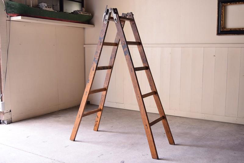 アンティーク,ヴィンテージ,脚立,ラダー,梯子,はしご,シェルフ,棚,リファクトリー,refactory