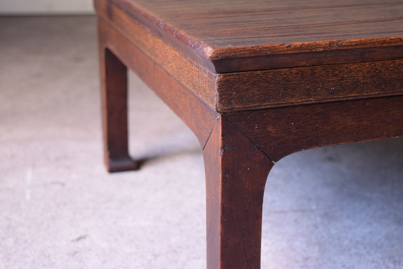 アンティーク,時代,座卓,テーブル,ローテーブル,日本,杉材,脚の接合部