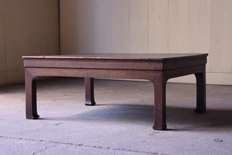 アンティーク,座卓,ローテーブル,一枚板,無垢,家具,古道具,蚤の市,リファクトリー
