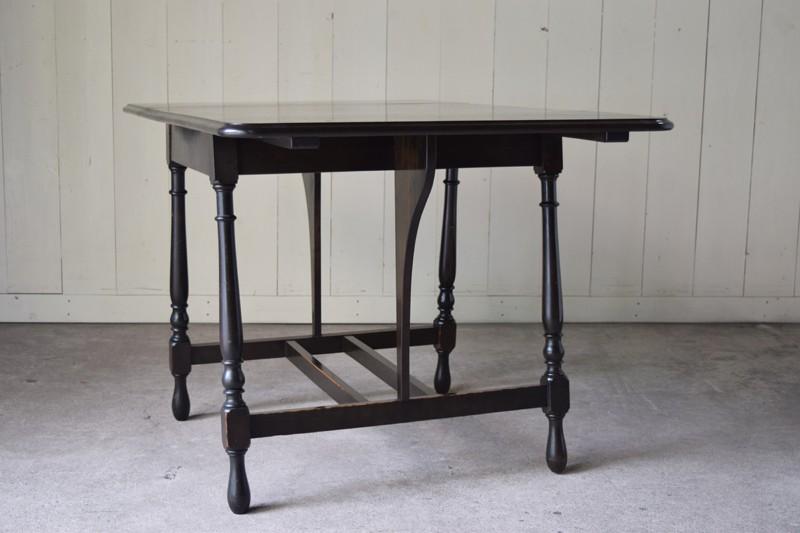側面,アンティーク,ヴィンテージ,バタフライテーブル,テーブル,ダイニングテーブル,カフェテーブル,机