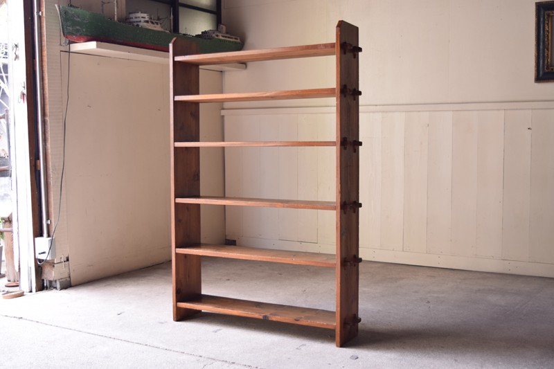 アンティーク,棚,本棚,食器棚,オープンラック,キッチン収納,ショップ,什器,リファクトリー.REFACTORY