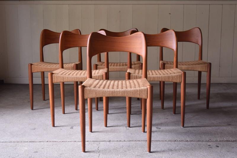 アンティーク,ヴィンテージ,椅子,チェア,北欧,家具,デンマーク,チーク材,セット,リファクトリー,REFACTORY
