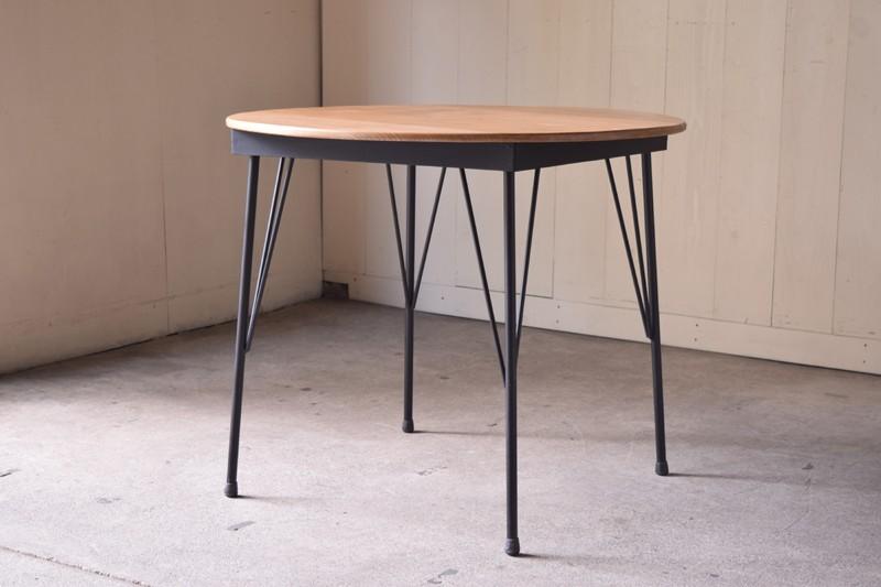 アンティーク,ヴィンテージ,テーブル,鉄脚,ちゃぶ台,オリジナル,家具,カフェ,リファクトリー,REFACTORY