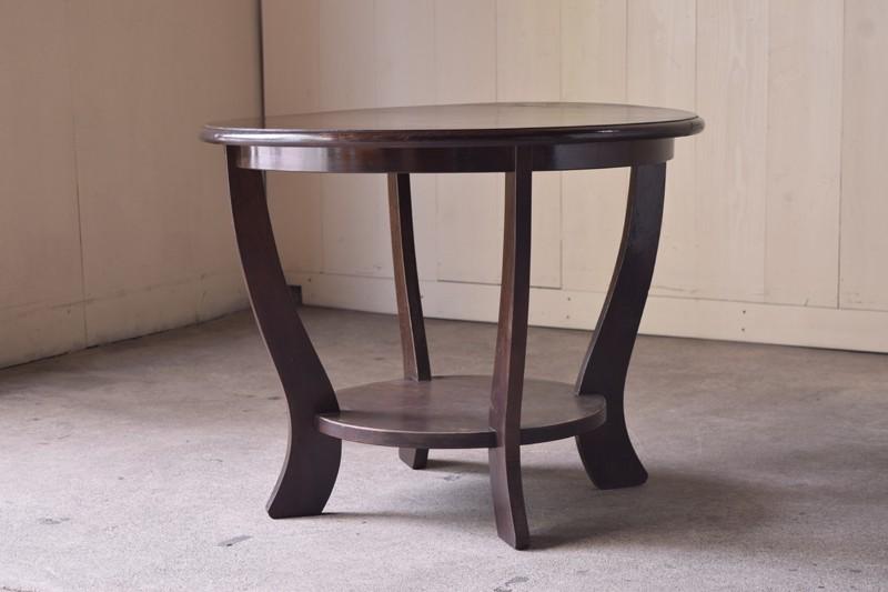 アンティーク,ヴィンテージ,センターテーブル,カフェテーブル,飾り台,イギリス,桜材,ショップ,REFACTORY antiques