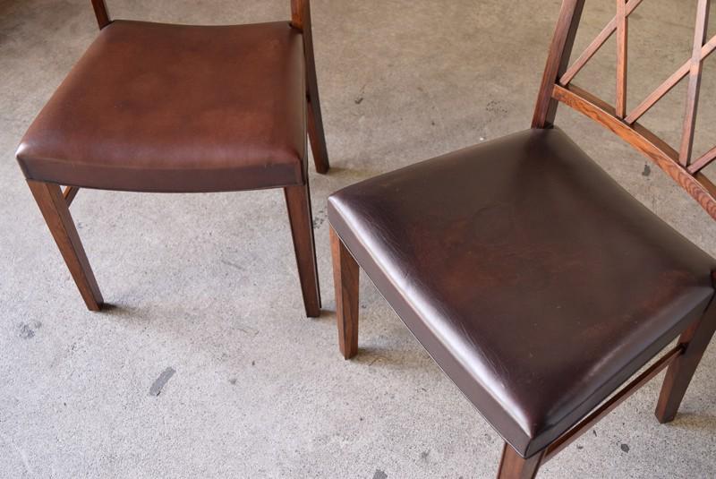 レザーシートには色ムラあり,アンティーク,椅子,チェア,オーレヴァンシャー,デザイナーズ