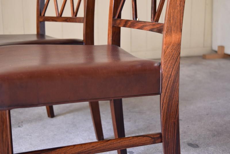 木目の美しいブラジリアンローズウッドを使用,アンティーク,椅子,チェア,オーレヴァンシャー,デザイナーズ