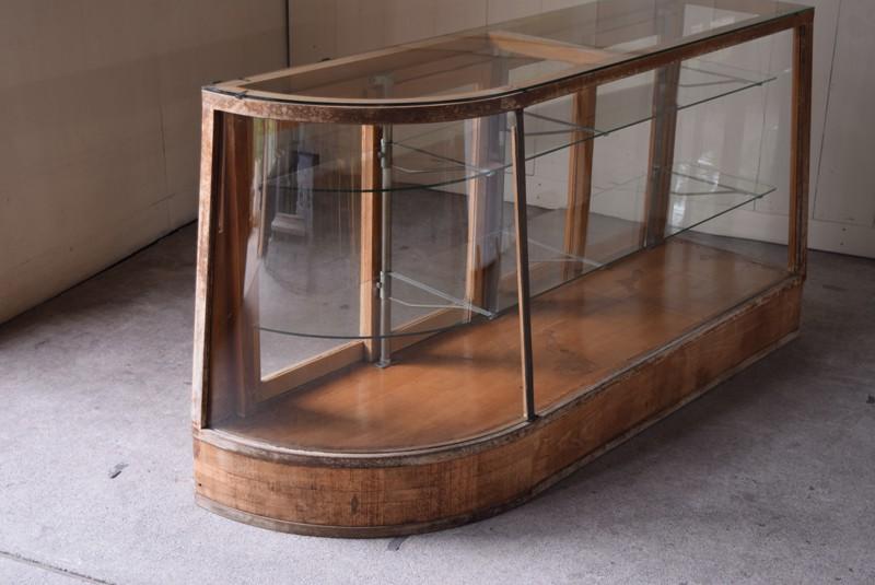 希少なRガラス,アンティーク,ガラスケース,ショーケース,パンケース,什器,陳列,ショップ