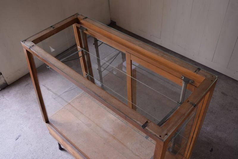 ガラス天板,アンティーク,ガラスケース,ショーケース,パンケース,什器,陳列,ショップ