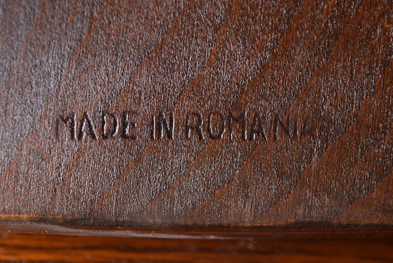 ルーマニア製,アンティーク,ヴィンテージ,ダイニングテーブル,ダイニングチェア,ホイールバックチェア,椅子,イギリス,アーリーアメリカン,カントリー