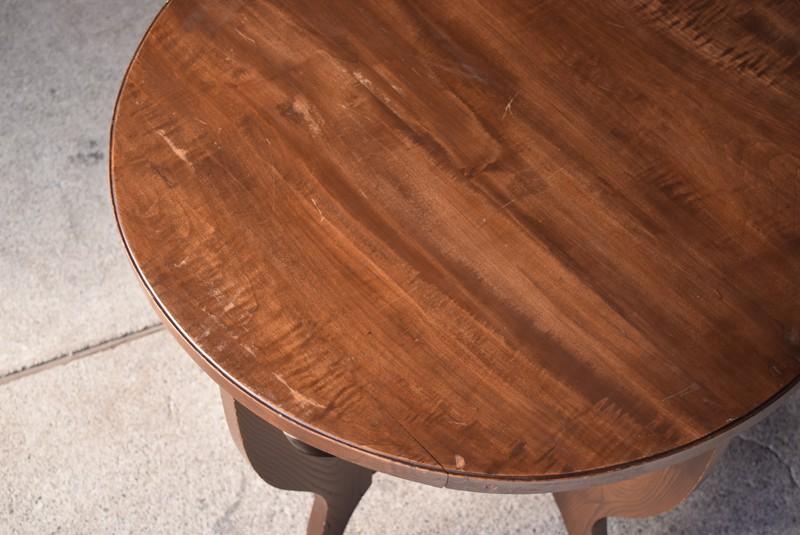 アンティーク,ヴィンテージ,テーブル,ラウンドテーブル,カフェテーブル,天板のコンディション
