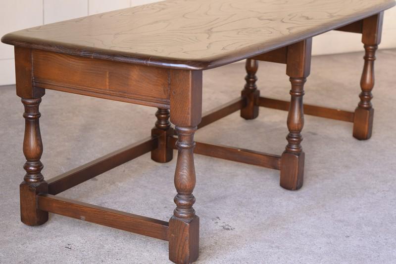 アンティーク,ERCOL,アーコール,テーブル,センターテーブル,コロニアル様式,イギリス,側面の状態