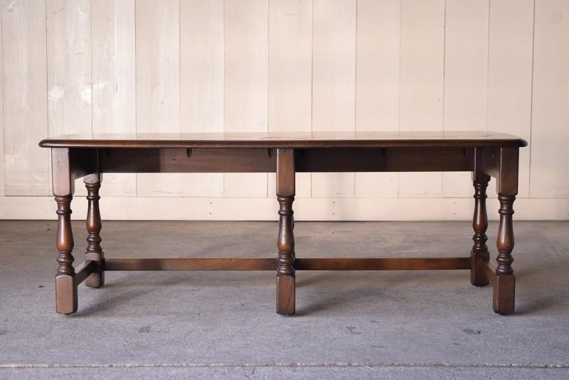 アンティーク,ERCOL,アーコール,テーブル,センターテーブル,コロニアル様式,イギリス,正面