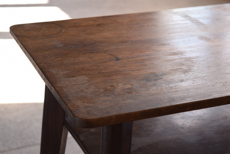 アンティーク,ヴィンテージ,テーブル,センターテーブル,ナラ材,楢材,カフェ,天板の風合い
