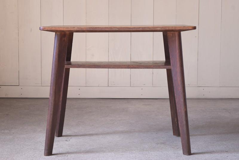 アンティーク,ヴィンテージ,テーブル,センターテーブル,ナラ材,楢材,カフェ,正面