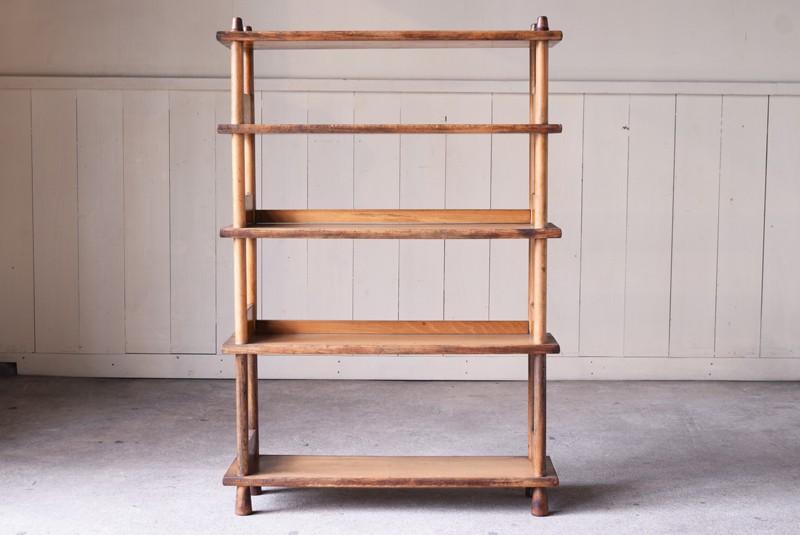飾り棚兼間仕切りとしても良さそう,アンティーク,本棚,オープンラック,収納,陳列,什器,ショップ