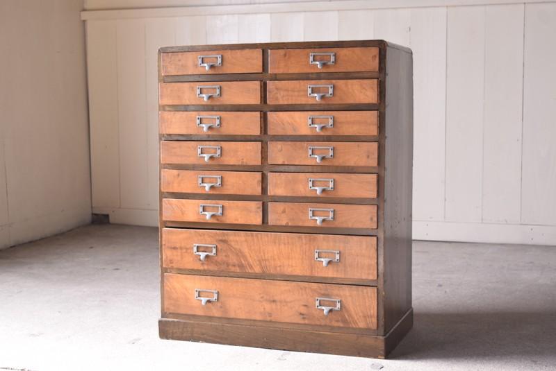 アンティーク,チェスト,小引き出し,希少,収納,用紙収納,埼玉,REFACTORY antiques,リファクトリーアンティークス