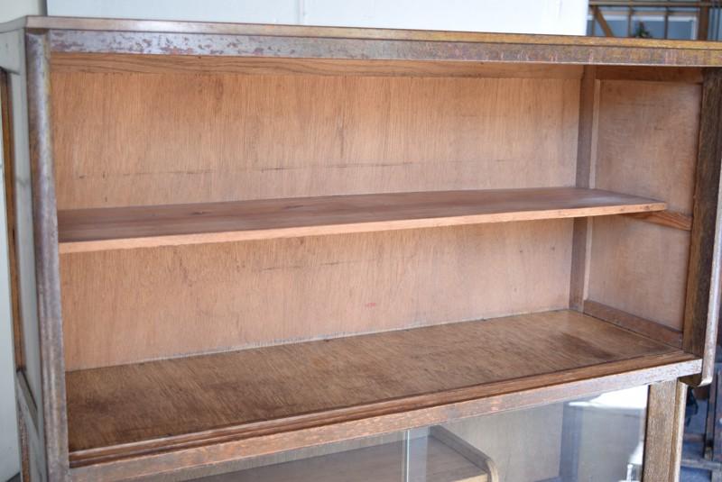 棚板は取り外し可能,アンティーク,食器棚,モールガラス,クリアガラス,収納,キッチン