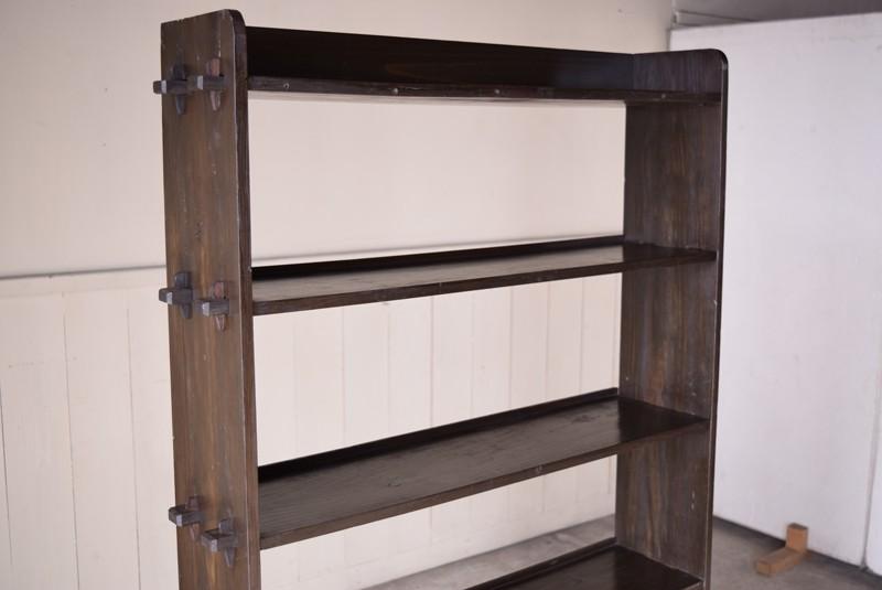 陳列棚としても,アンティーク,本棚,オープンラック,什器,陳列,収納,クサビ