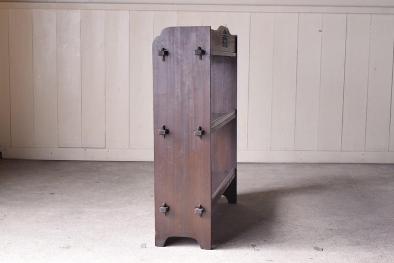 別側面,アンティーク,ヴィンテージ,本棚,オープンラック,透かし彫り,陳列棚