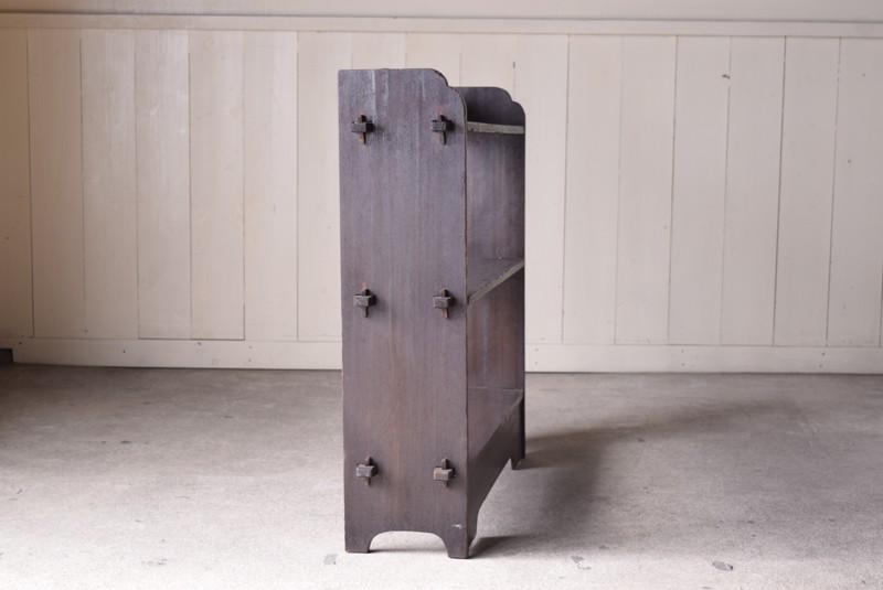 側面,アンティーク,ヴィンテージ,本棚,オープンラック,透かし彫り,陳列棚