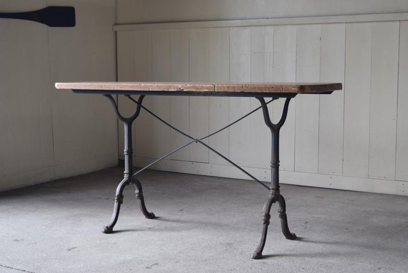 陳列台としてもおすすめ,アンティーク,鉄脚,テーブル,什器,作業台,フランス