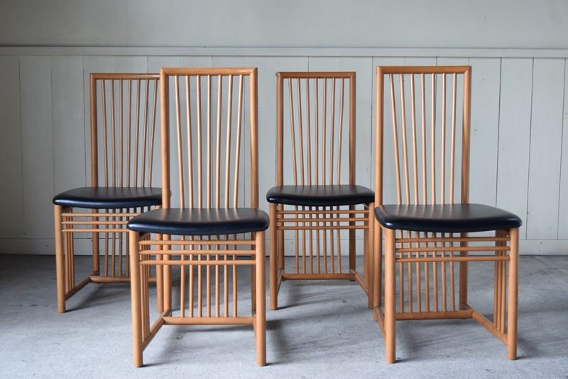 アンティーク,ヴィンテージ,チェア,椅子,ダイニングチェア,イタリア製,セット,ハイバック,Refactory antiques