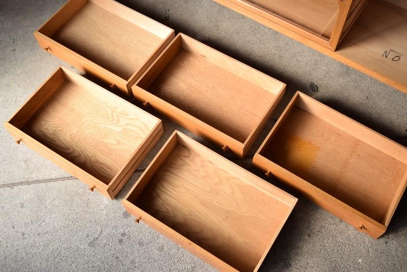 きれいな引き出し内部,サイドボード,テレビボード,オーク材,北欧,デンマーク,ヴィンテージ,