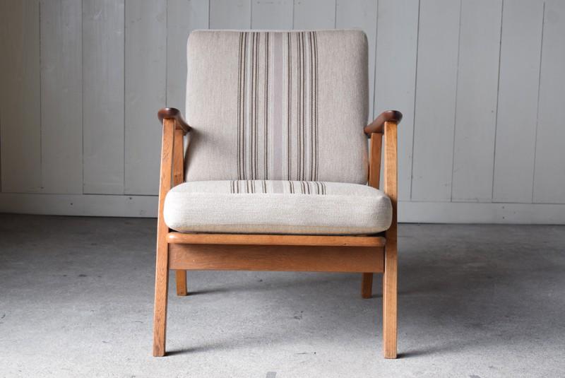 正面,デンマーク家具,北欧家具,イージーチェア,ソファ,ビンテージ,チーク材,オーク材
