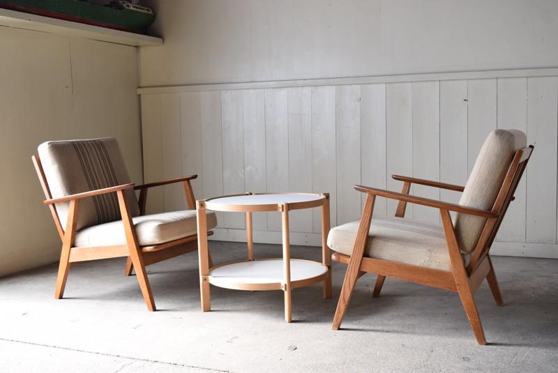 レイアウトのイメージ,センターテーブル,デンマーク家具,北欧家具,イージーチェア,ソファ,ビンテージ,チーク材,オーク材