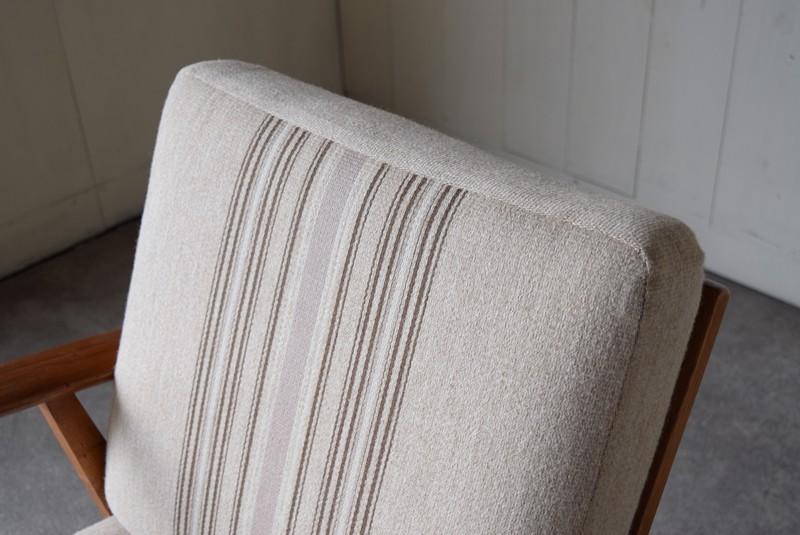 クッションの質感,デンマーク家具,北欧家具,イージーチェア,ソファ,ビンテージ,チーク材,オーク材