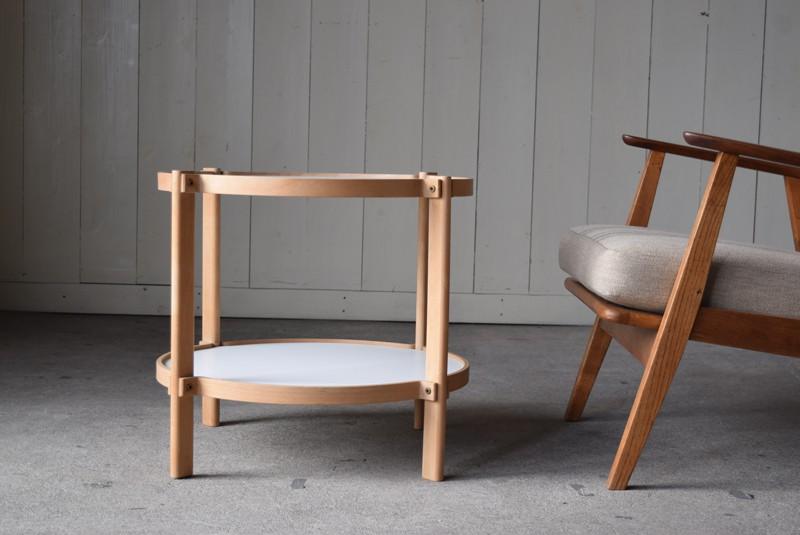使用案,北欧,デンマーク,センターテーブル,ブナ材,ビーチ材,曲げ木