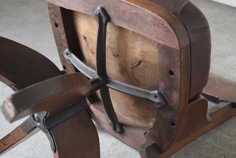 座面裏,アンティーク,ヴィンテージ,チェア,椅子,回転椅子,郵便局,木製