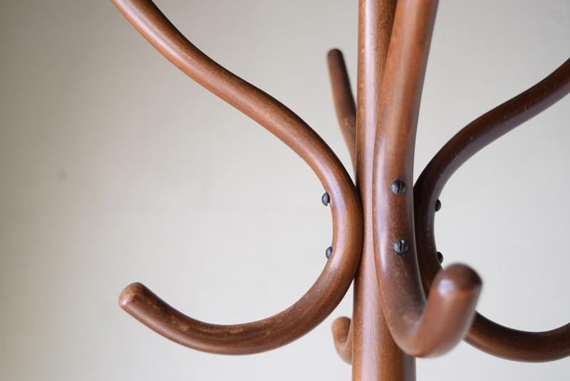 美しい曲木のコート掛け,アンティーク,ヴィンテージ,コートハンガー,秋田木工,曲木,傘立て
