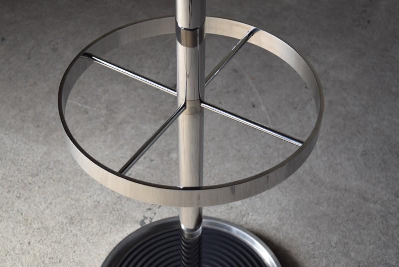 傘立てのトップ,ヴィンテージ,ポールハンガー,北欧家具,デンマーク,チーク材,傘立て,金属