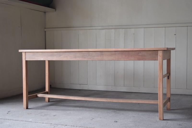アンティーク,テーブル,陳列台,作業台,カウンター,長テーブル,ワークテーブル,無垢材