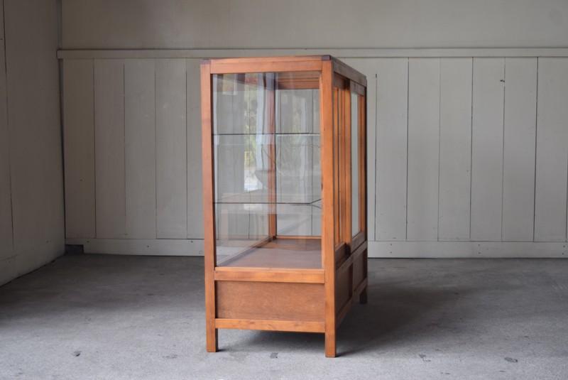 側面,アンティーク,陳列,ガラスショーケース,ガラスケース,食器棚,コレクションボード,パンケース,店舗,什器
