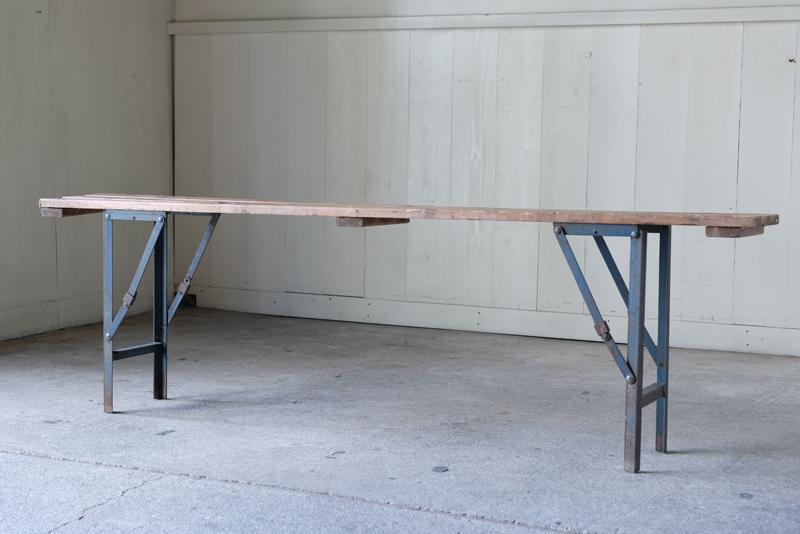 アンティーク オールドパイン 木味のフォールディングベンチ