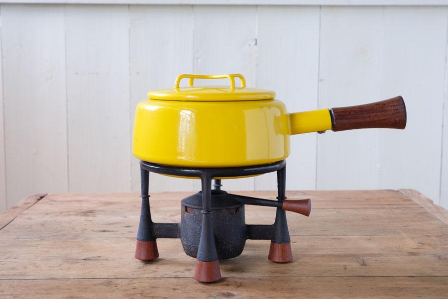 ダンスク コペンスタイルのフォンデュ鍋と鉄製のコンロのセット