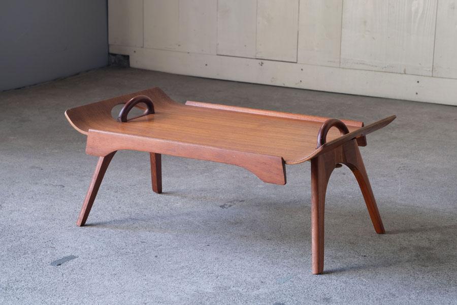 イギリスヴィンテージ チーク材 折りたたみトレイテーブル