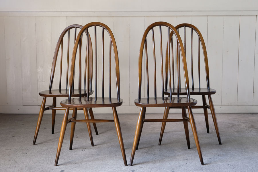 ERCOL クエーカーチェア 4脚セットです