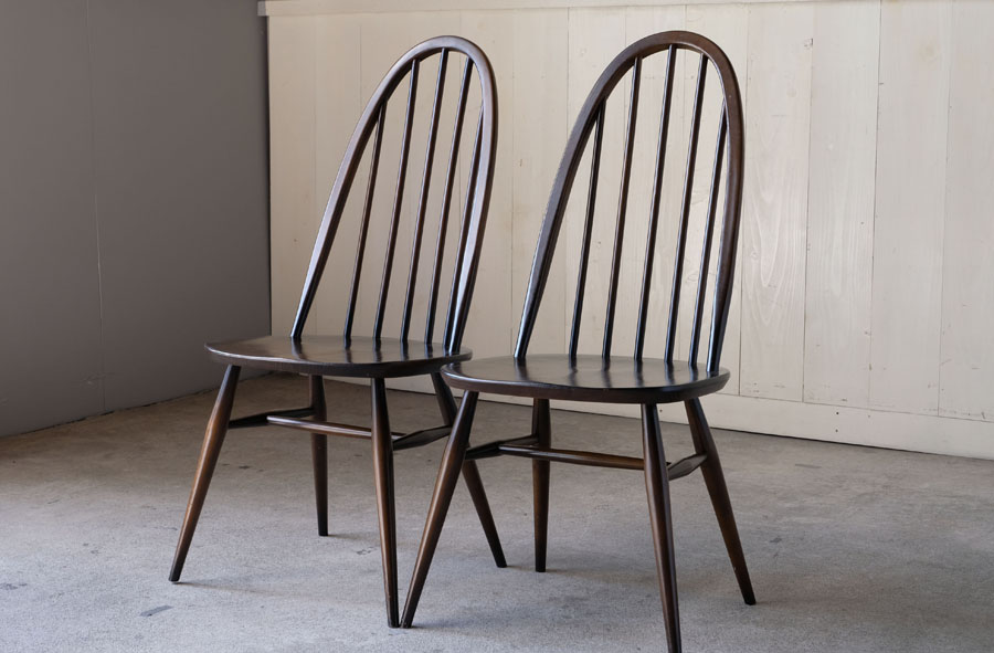 ERCOL アーコール クエーカーチェア 2脚セット